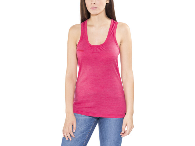 Bergans Cecilie Wool Singlet Damen bougainvillea melange/strawberry